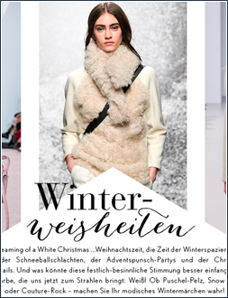 WINTER WHITE I Januar 2015 I Stylebop Magazin I Trend Report I Editor Text