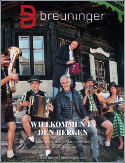 WILLKOMMEN IN DEN BERGEN I Winter 2015 I Breuninger Best Ager Katalog I Editor Text